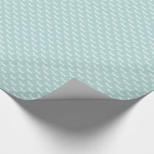 Cute Dachshund White Silhouettes on light blue Wrapping Paper