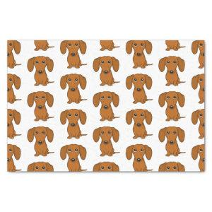 Cute Dachshunds Pattern | Red Wiener Dogs Tissue Paper
