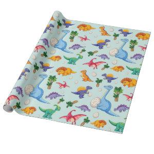 Cute Dinosaur Babies | Baby Wrapping Paper