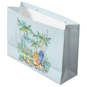 Cute Dinosaur Boys Baby Shower Gift Bag