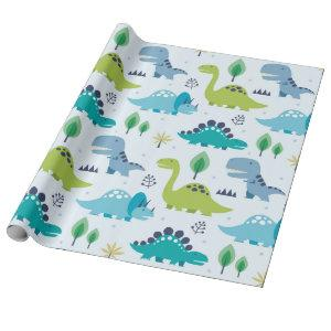 Cute Dinosaur Kids Pattern Wrapping Paper