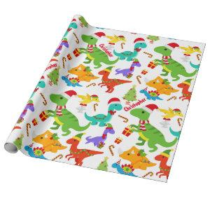 Cute Dinosaurs Christmas Personalized