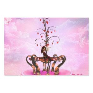 Cute fairy with valentine tree wrapping paper sheets