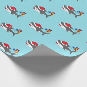 Cute Holiday Shark Wrapping Paper