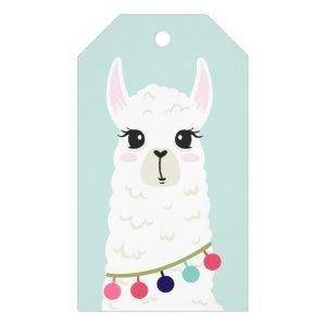 Cute Llama Girl's Birthday Gift Tags