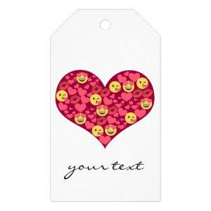 Cute Love Kiss Lips Emoji Heart Gift Tags
