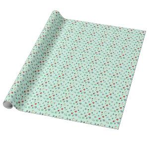 Cute Medical Icon Pattern Wrapping Paper