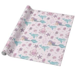 Cute Mermaid Wrapping Paper