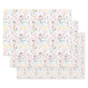 Cute Mermaids Craft Decoupage Scrapbook And Gift Wrapping Paper Sheets
