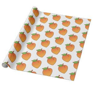 Cute Peach Pattern Wrapping Paper