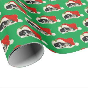 Cute Puppy and Kitten Christmas Wrapping Paper