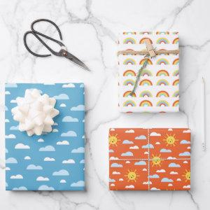Cute Rainbow Clouds and Sunshine  Sheets