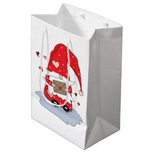 Cute Red Little Gnome Valentine's Day Gift Bag