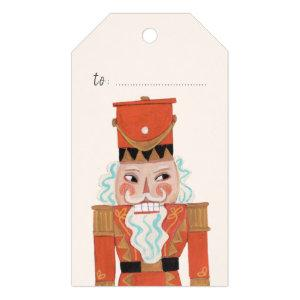 Cute Red Nutcracker Ballet Christmas | Gift Tags