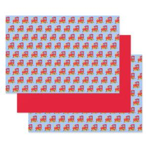 Cute Red Train Wrapping Paper Sheets