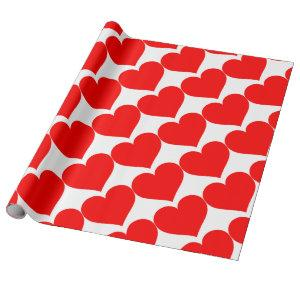 Cute Romantic Couples Couple Love Red Heart Wrapping Paper