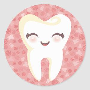 Cute Tooth - Pink Stickers