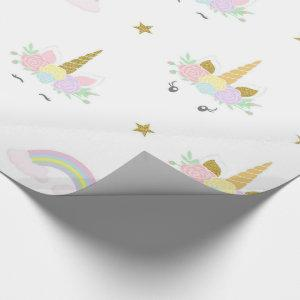 Cute Unicorn Wrapping Paper