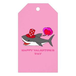 Cute Valentine's Day Shark Gift Tags