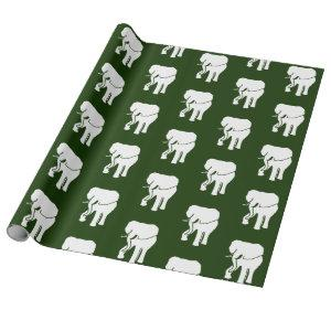 Cute White Elephant Gift Exchange Christmas Game Wrapping Paper