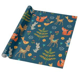 Cute Woodland Animal Pattern Wrapping Paper