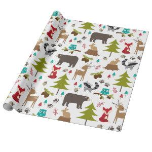 Cute Woodsy Woodland Animal Wrapping Paper