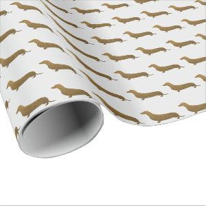 Dachshund Faux Glitter | Dog Icon Wrapping Paper