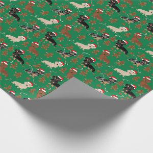 Dachshund gingerbread chrsitmas dog wrapping paper