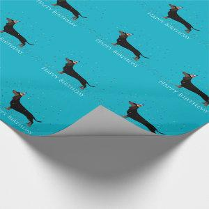Dachshund Happy Birthday Design Wrapping Paper