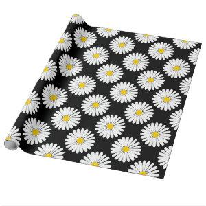 Daisy Style Flower Pattern Wrapping Paper
