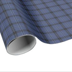 Dark Blue Plaid All Occasion Wrapping Paper