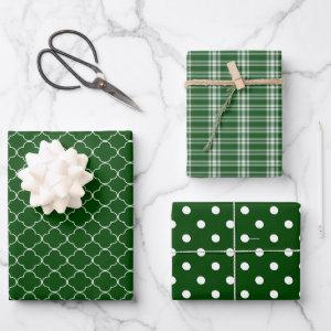 Dark Green Wrapping Paper Sheets