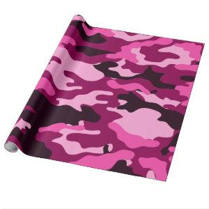 Dark Pinks Camo Camouflage Wrapping Paper