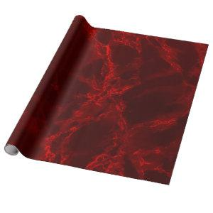 Dark Red Marble Texture Look Wrapping Paper