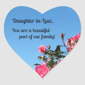 Daughter-in-Law, you are a beautiful part of ... Heart Sticker