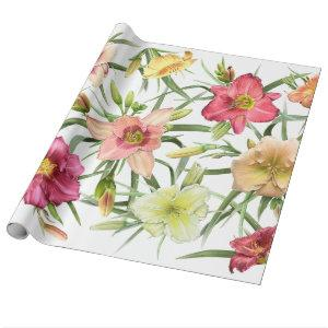 Daylilies All Over Wrapping Paper
