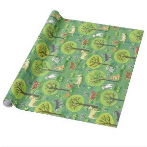 Days in the Dog Park Wrapping Paper