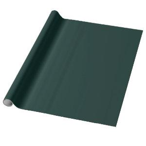 Deep Cyan Solid Color Wrapping Paper