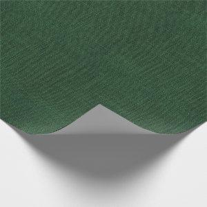 Deep Green Burlap Texture Wrapping Paper