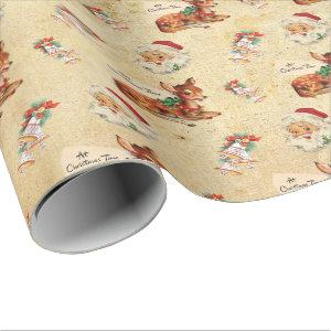 Deer Santa 2 Wrapping Paper