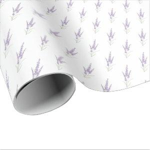 Delicate Lavender Herb Flower Dry Bundle Pattern Wrapping Paper