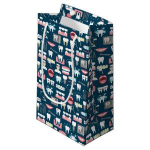 Dental Clinic Office Pattern Small Gift Bag