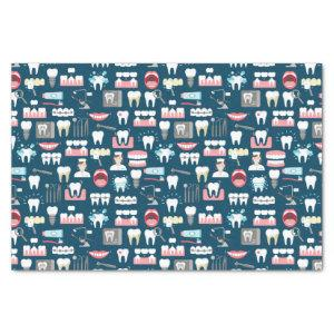 Dental Clinic Office Pattern Tissue Paper