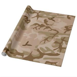 Desert Camo - Brown Camouflage Wrapping Paper