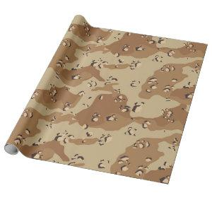 Desert Military Camouflage Pattern Wrapping Paper
