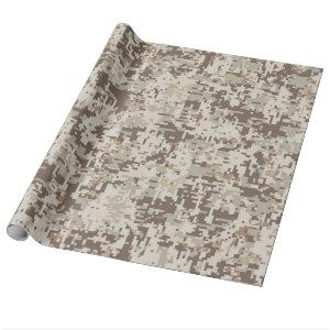 Desert Style Digital Camouflage Wrapping Paper