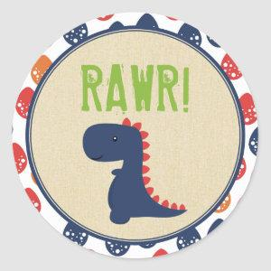 Dinosaur Birthday Stickers