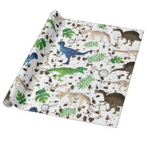 Dinosaur Hunt! Dinosaurs on Safari Boys Kids Wrapping Paper