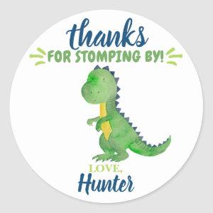 Dinosaur Thank You Favor Stickers