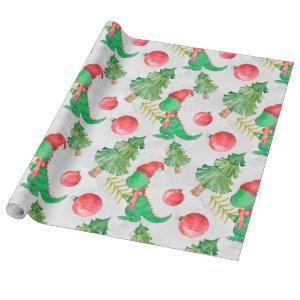 Dinosaurs Christmas pattern Wrapping Paper